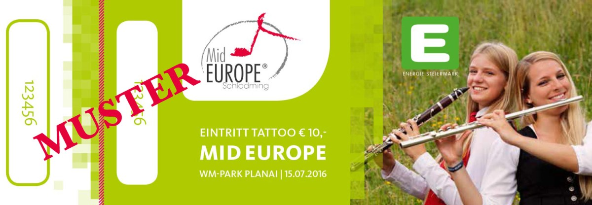 eintrittskarte mid europe schladming tattoo
